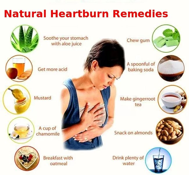 Natural home remedies for heart burn