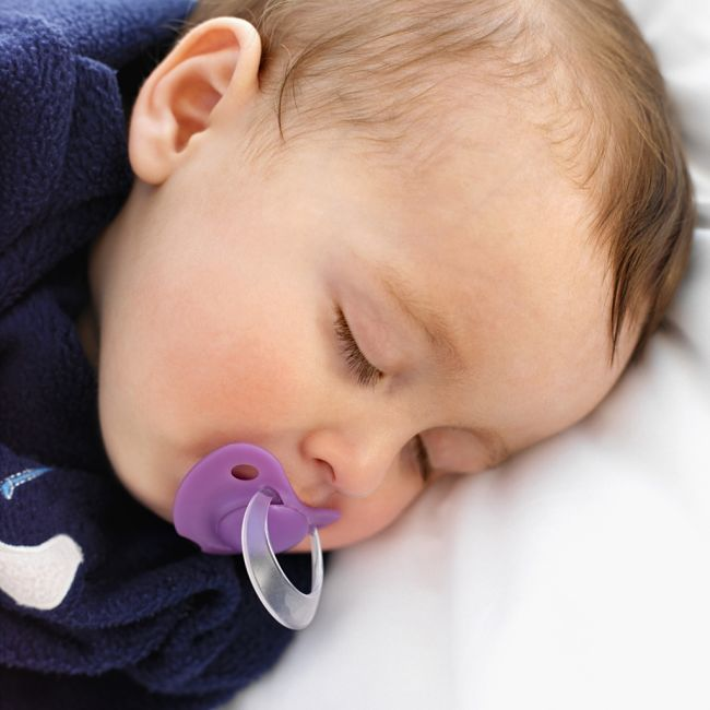 The wean your baby off a pacifier start by only allowing it be used to help the baby fall asleep