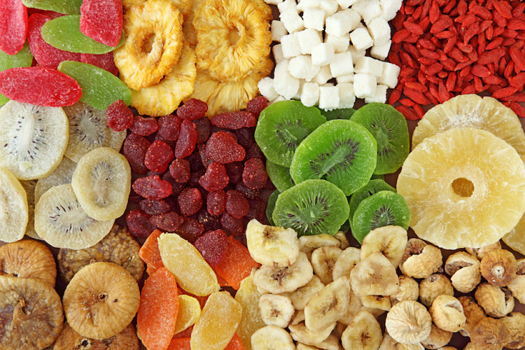 There are a huge range of dried fruits avilable. See this article to find the healthiest and best value dried fruit for various uses