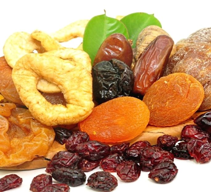 Keep a range of dried fruit in your cupboard as they are a healthy snack and better for you than cakes, biscuits, cookies and fast food snacks