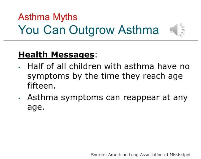 Many children do outgrow asthma but parents need to be cautious as it can re-occur suddenly