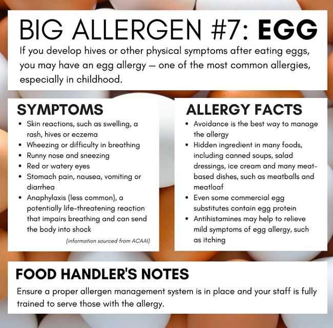 All about egg allergy - see more in this article