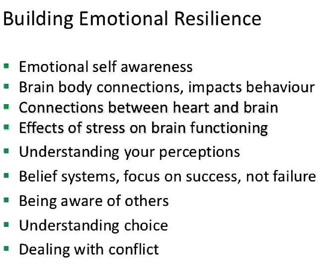 Tips for building Emotional Resilience yourself