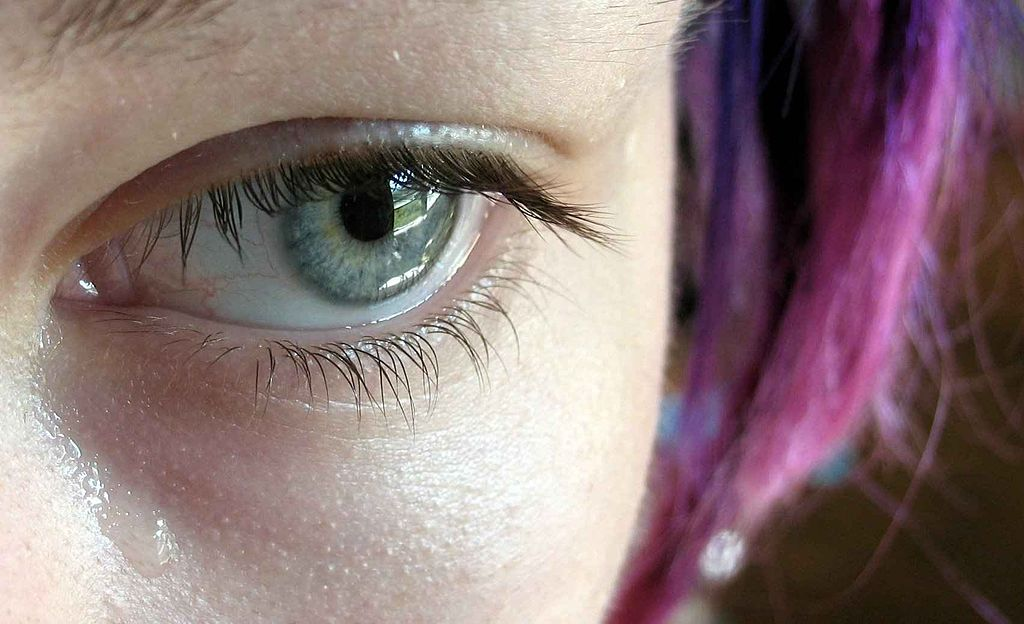 A tiny tear a leak of emotions