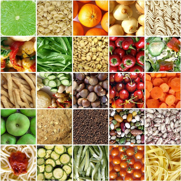 Whole fruit and vegetables as well as wholemeal flours, peas, beans and pulses are great sources of fiber