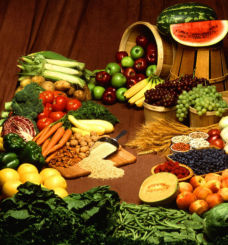 Fresh fruits, vegetables, whole grains, peas, beans and lentils are great sources of fiber