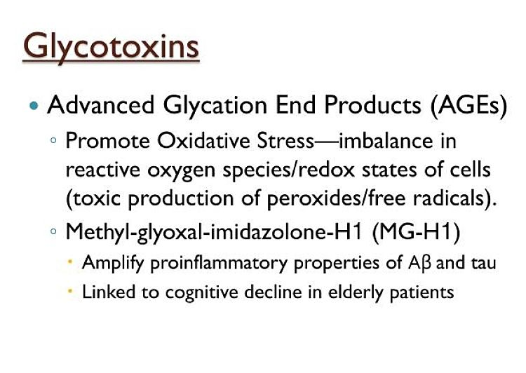 Toxic Effects of Advanced Glycation