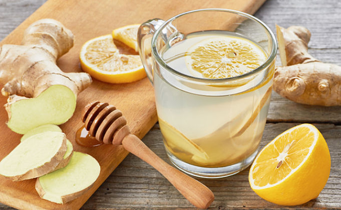 A cool drink made from fresh ginger and lemon that is sipped slowly can help control nausea for the whole family.
