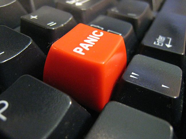 How to stop pushing the 'panic' button